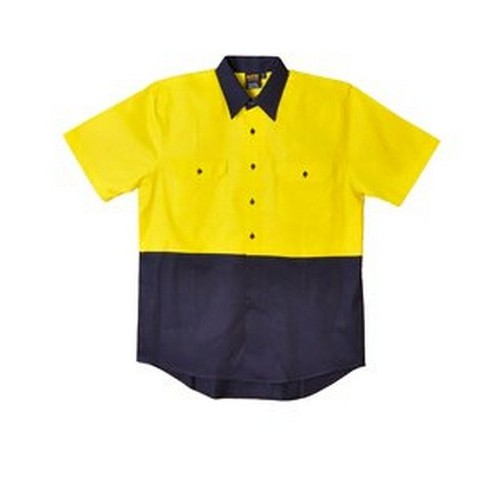 Aiw Hi Vis Short Sleeve Shirt With Your Company Logo B