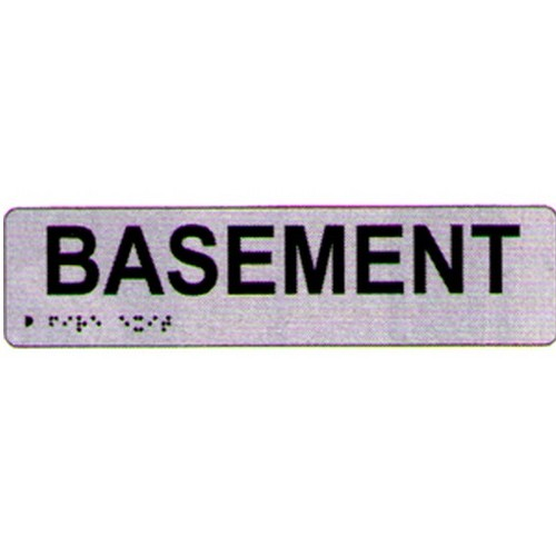 Basement Braille Sign