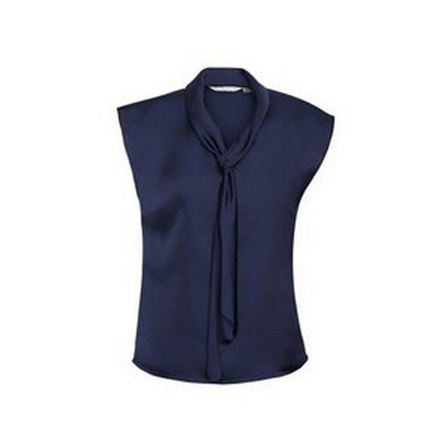31a51035cc5b6 The Biz Collection Tie Neck Top will look great with with your logo