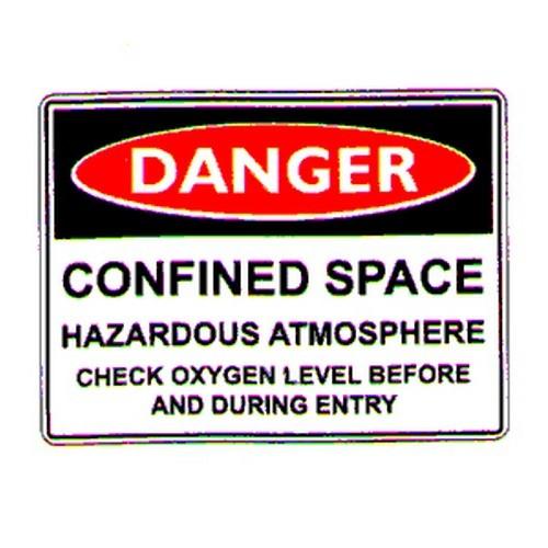 Danger Confined Space Haz Sign