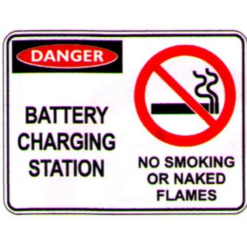 Danger Battery Char Stat Sign