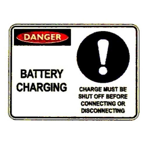 Danger Battery Charging Sign