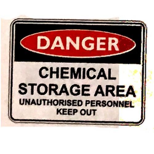Danger Chem Stor Area Sign