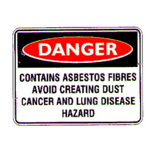 Danger Contains Asbestos Labels