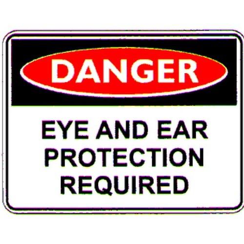 Danger Eye Ear Prot Req Labels