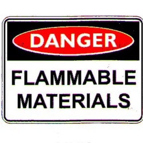Danger Flammable Mat Labels