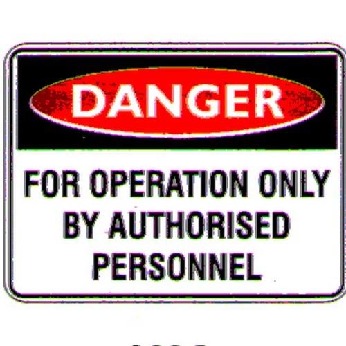 Danger For Operation Only Labels
