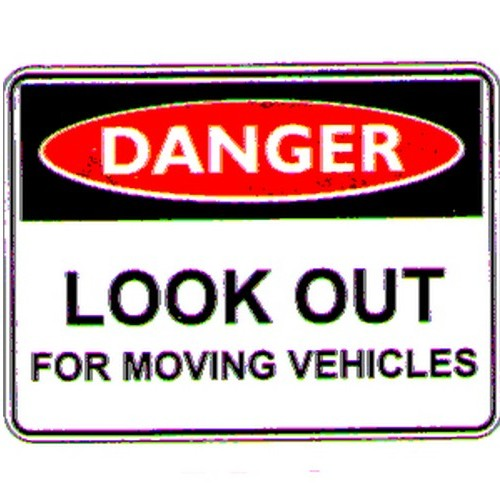 Danger Look Out For Moving Sign