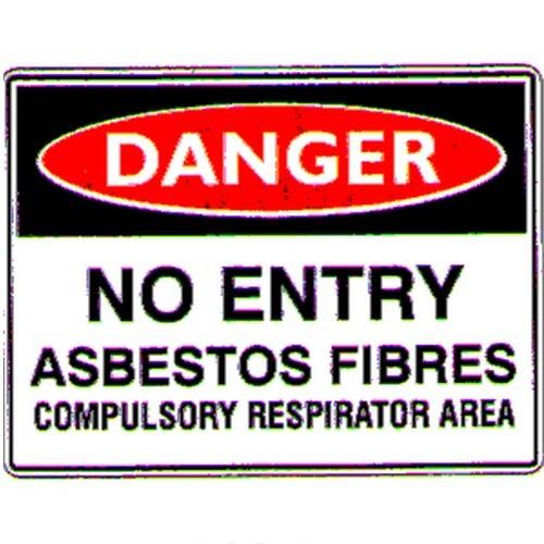 Danger No Entry Asbestos Fibre Sign
