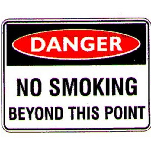Danger No Smoking Beyond Sign