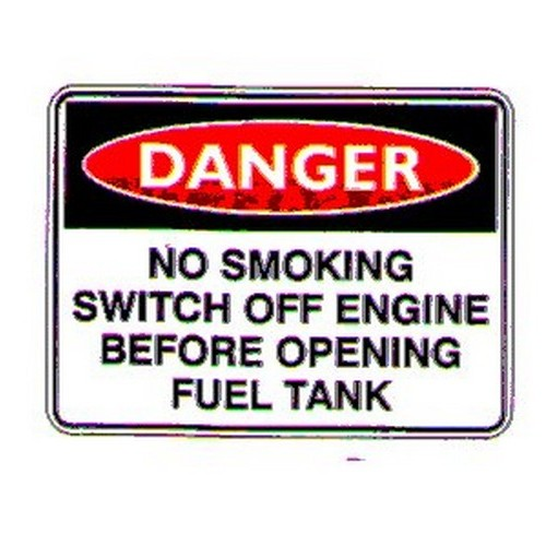 Danger No Smoking Switch Sign