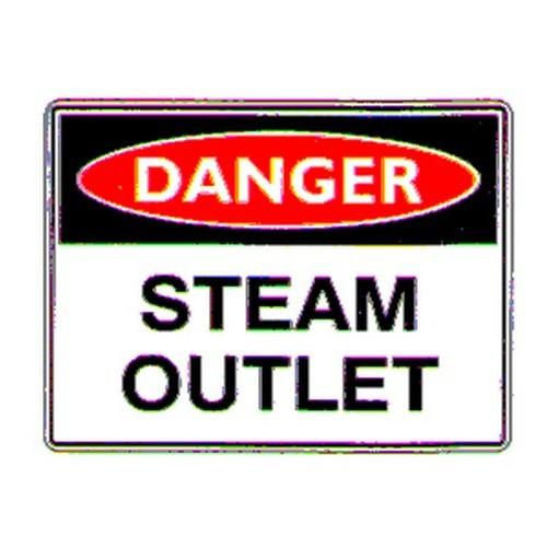 Danger Steam Outlet   Sign