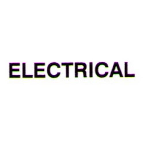 ELECTRICAL Door Sticker