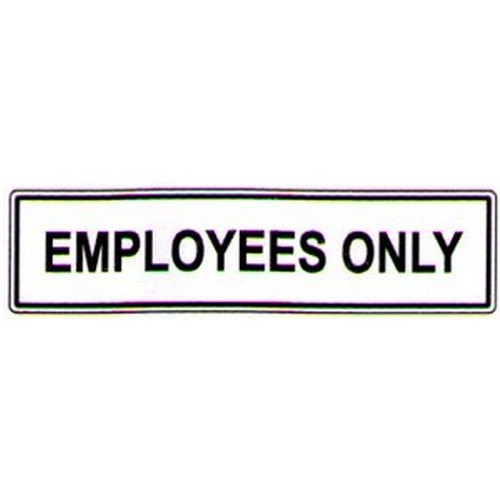 Employees Only Label