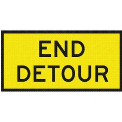 End Detour Box Edge Sign