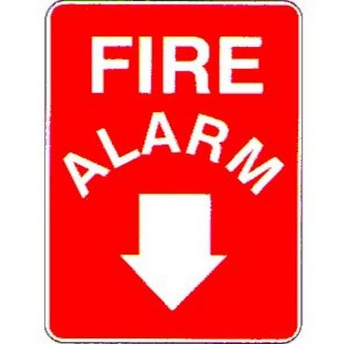 Fire Alarm Down Arrow Sign
