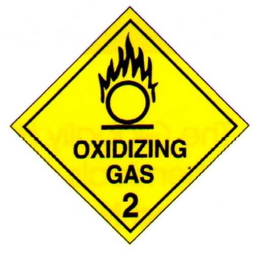 Hazchem Oxidizing Gas Sticker