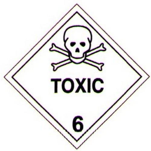 Hazchem Toxic Sticker