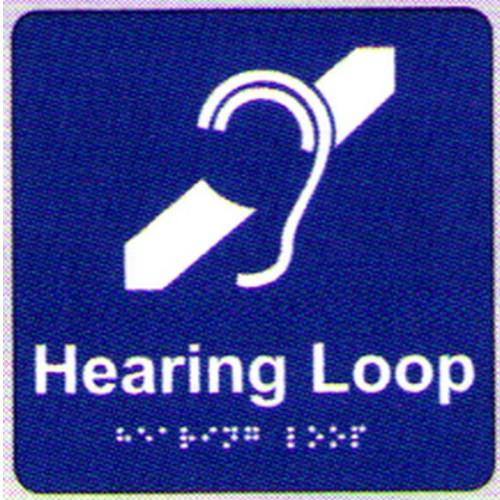 Hearing Loop Braille Sign
