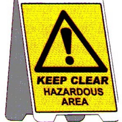 Keep Clear Hazardous Area A Frame