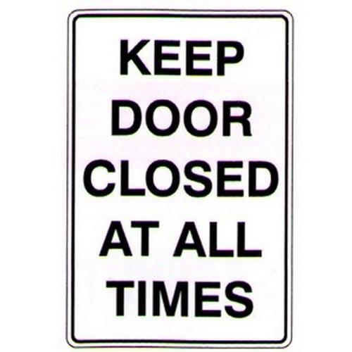 Keep Door Closed At All Sign
