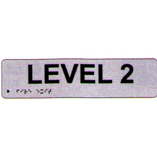 Level 2 Braille Sign