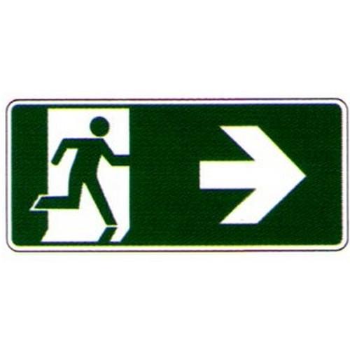 Luminous Right Arrow Running Man Label