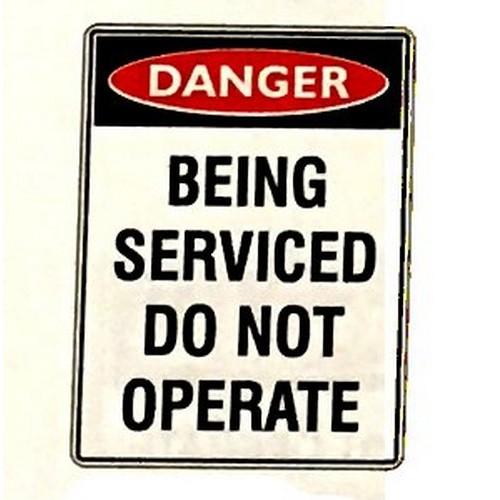 Magnetic Danger Being Serviced Sign