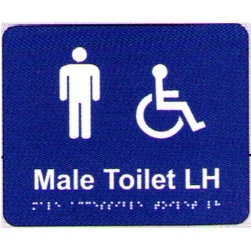 Male AccesToilet Lh Braille Sign