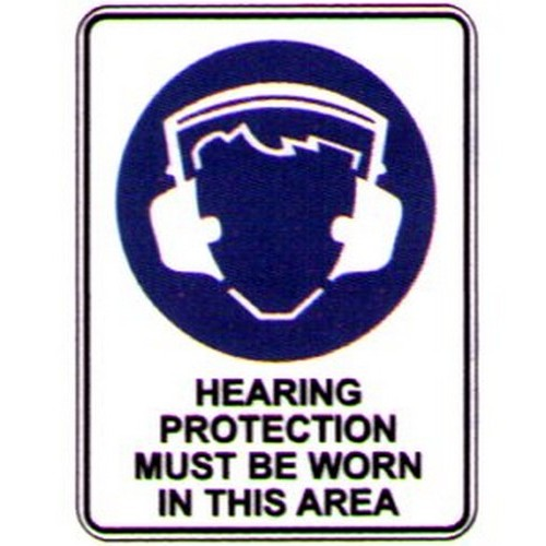 Symbol Hearing Protection Sign With Australia Wide Delivery B