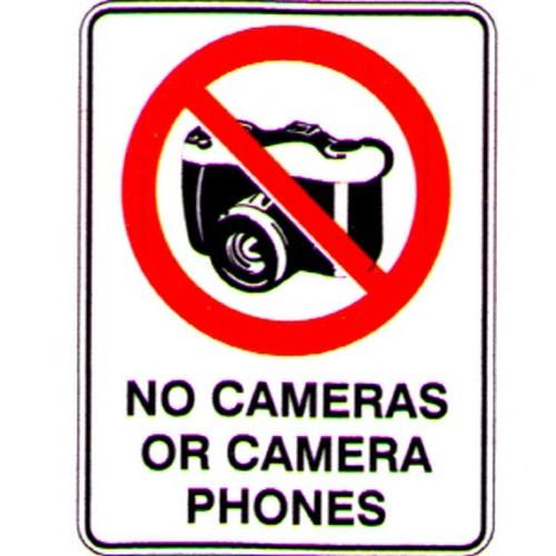 no cameras or camera phones sign with australia wide