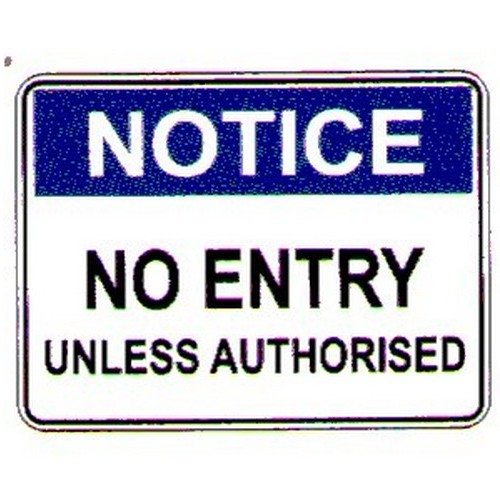 Notice No Entry Sign