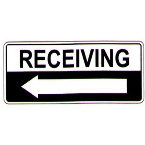 Receiving Left Arrow Sign