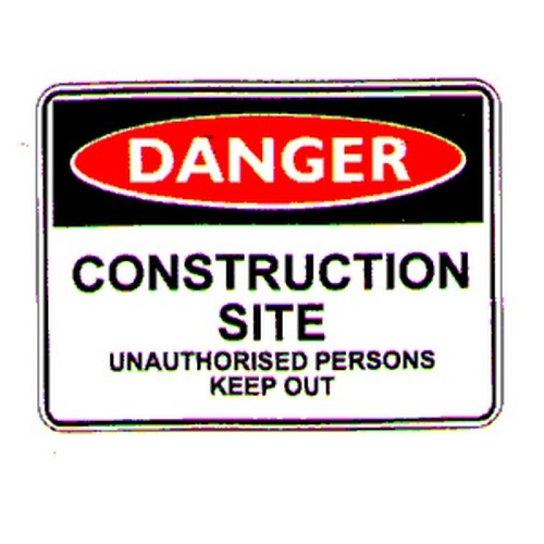 Reflective Danger Construction Keep Out Sign