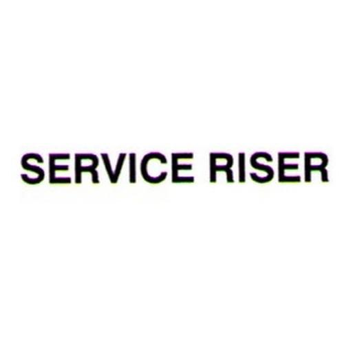 SERVICE RISER Door Label
