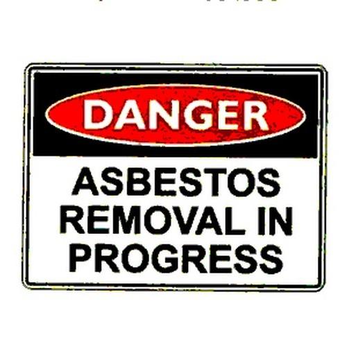 Danger Asbestos Removal Sign