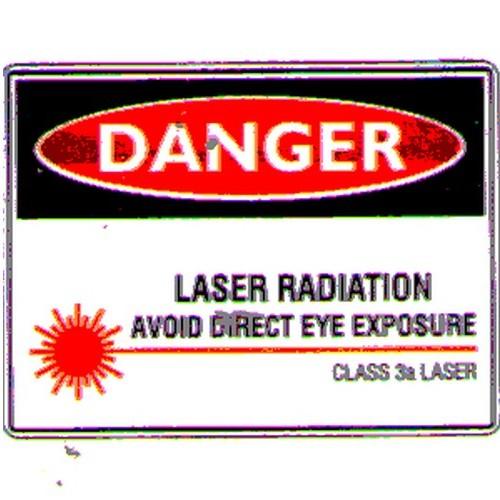 Stick Danger Laser Radiation Label