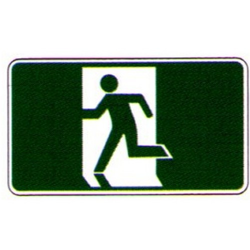 Stick Exit Running Man Symbol Label