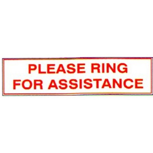 Stick Please Ring For Assistance Label