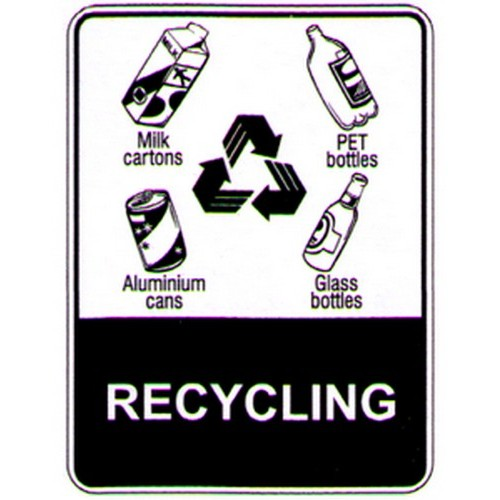 Stick Recycling Symbols Label With Australia Wide Delivery B Protected