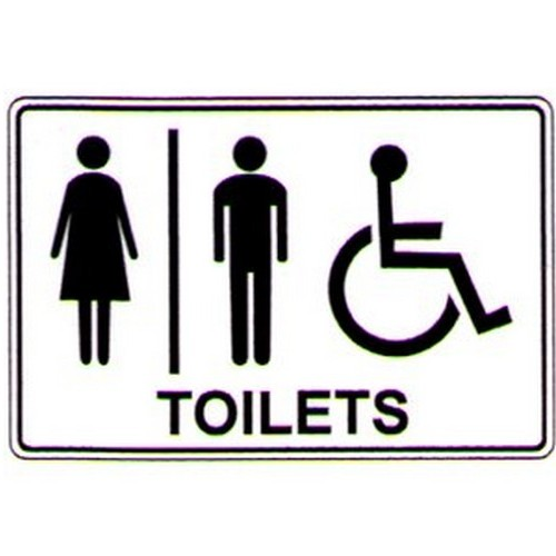 Stick Toilets LadiesMensDisabled Label