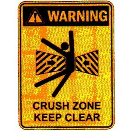 Stick Warn Crush Zone Label