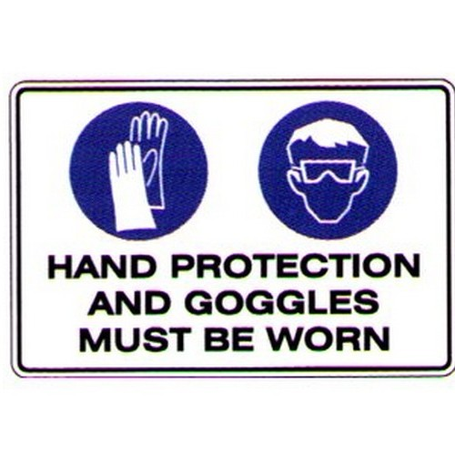 Symbol Hand Eye Protection Sign With Australia Wide Delivery B