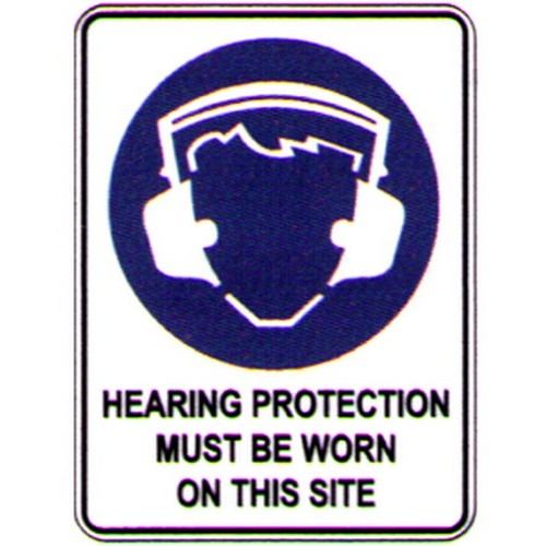 Symbol Hearing Protection Sign