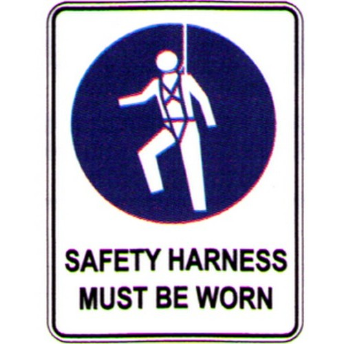 Symbol Safety Harness Mus Sign With Australia Wide Delivery B