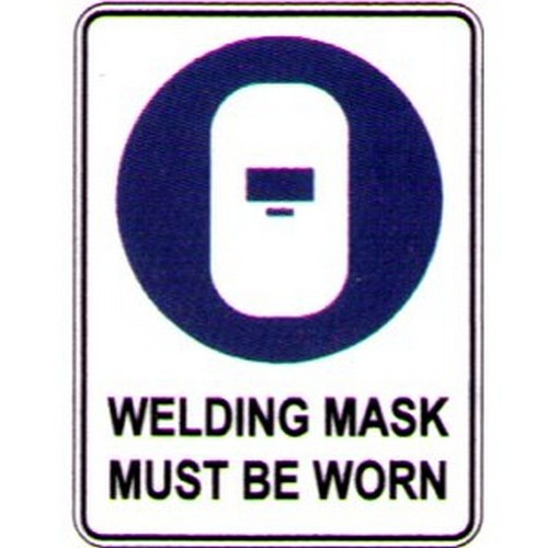 Symbol Welding Mask Must Sign With Australia Wide Delivery B Protected