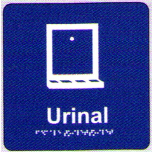 Urinal Text Symbol Braille Sign