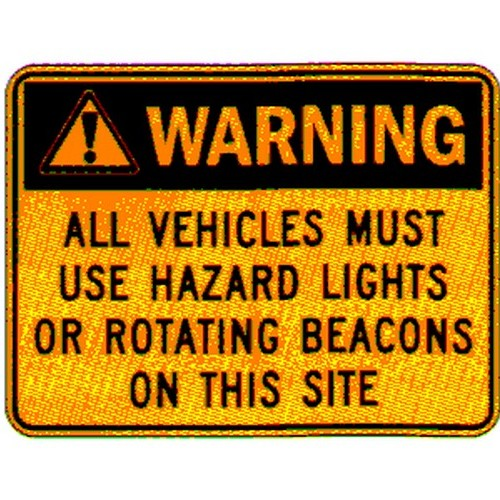 Vehicles Must Use Sign