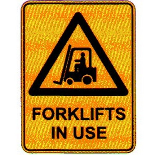 Warn Forklifts In Use Sign