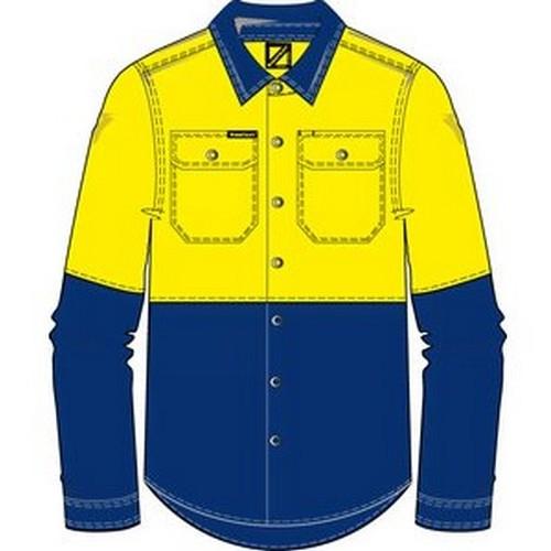 Workcraft Stud Front Shirt